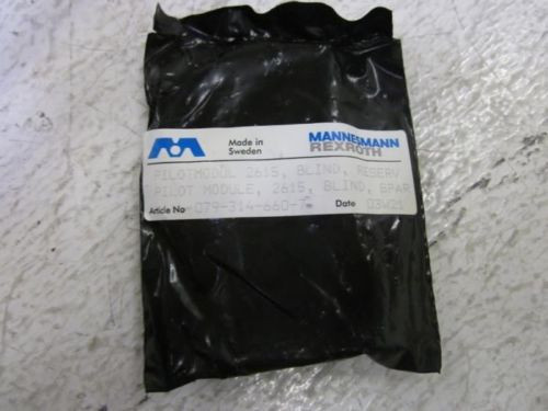 LOT Germany Canada OF 68 MANNESMANN REXROTH 079-314-660-7 PILOT MOD.2615 *NEW IN A FACTORY BAG*