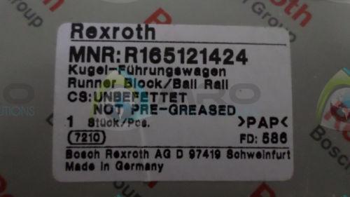 REXROTH Canada Egypt R165121424 RUNNERBLOCK/BALL RALL *NEW IN BOX*
