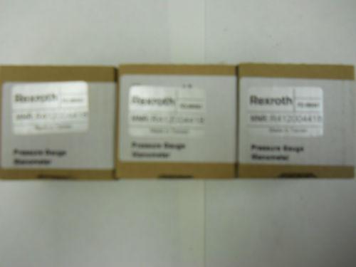 LOT India Canada OF THREE REXROTH PRESSURE GAUGES R412004418 *NIB*