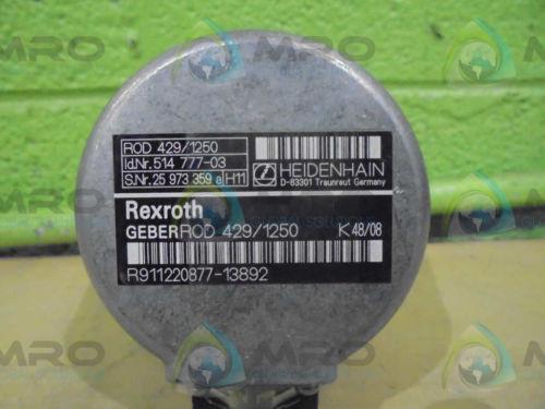 REXROTH Germany Dutch (GERBER-ROD) R911220877-13892 (429/1250) *NEW NO BOX*