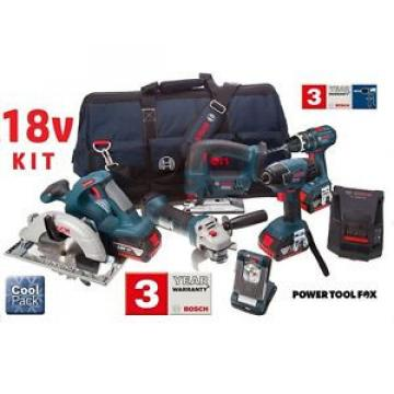 5 ONLY Bosch 18V Cordless TOOL KIT - 3x4.0AH Batteries 0615990G8K 3165140803700