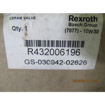 REXROTH Canada Canada CERAM VALVE R432006196 NEW
