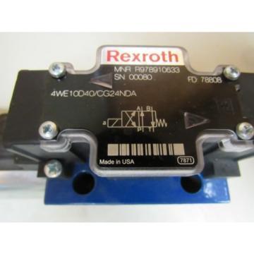 NEW Japan Germany REXROTH HYDRAULIC VALVE 4WE10D40/CG24NDA 4WE10D40CG24NDA 24VDC 1.46 AMP A