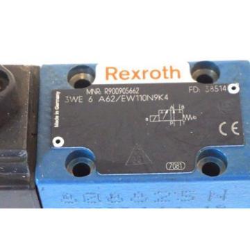 NEW USA Korea REXROTH 3WE-6-A62 / EW110N9K4 VALVE R900905662 3WE6A62EW110N9K4