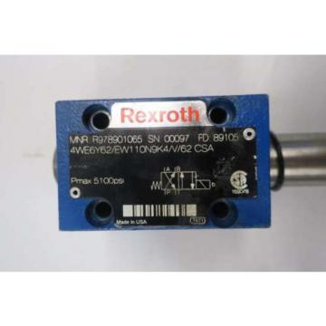 REXROTH Italy Canada 4WE6Y62/EW110N9K4/V/62 5100PSI SOLENOID HYDRAULIC VALVE D550748