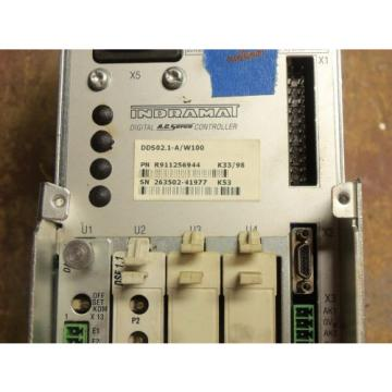 REXROTH Singapore Korea INDRAMAT DDS02.1-A/W100 POWER SUPPLY AC SERVO CONTROLLER DRIVE #14