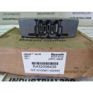 REXROTH France Canada CERAM VALVE RT32006435 GT-010061-02440 NEW
