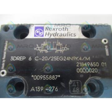 REXROTH Singapore Mexico 3DREP6C-20/25EG24N9K4/M PROPORTIONAL PRESSURE REDUCING VALVE *USED*