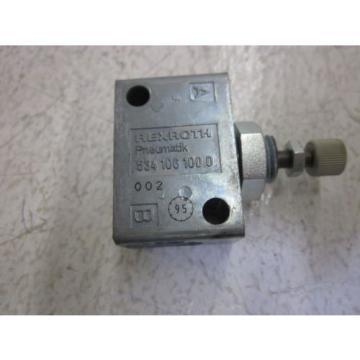 LOT Korea Mexico OF 7 REXROTH 534 106 100 0 VALVE *USED*