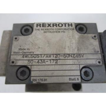 REXROTH Germany Canada 4WE6C51/AW120-60NZ45V SOLENOID VALVE *USED*
