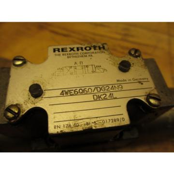 Rexroth Italy Italy 4WE6Q60/DG24N9DK24L Hydraulic Directional Valve 24VDC Hydronorma