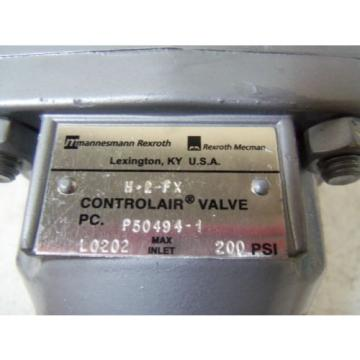 REXROTH Egypt Russia H-2-FX CONTROLAIR VALVE *NEW IN BOX*