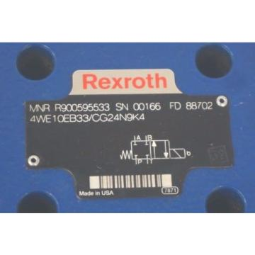 NEW Greece Egypt REXROTH 4WE10EB33/CG24N9K4 VALVE R900595533