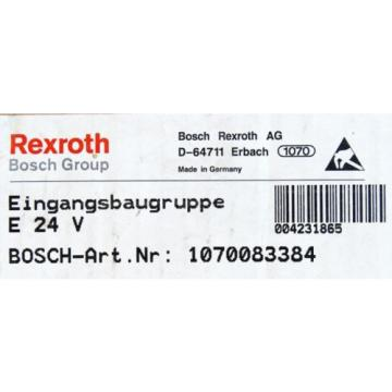 BOSCH Canada Dutch Rexroth E 24V E24V Nr. 1070083384 Eingangsbaugruppe -unused/OVP-