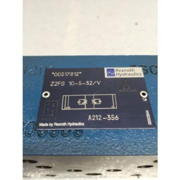 Rexroth Korea Singapore Z2FS 10-5-32/V Throttle Check Valve A212-356 (B49)