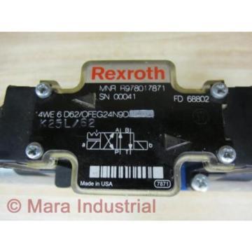 Rexroth Canada Mexico Bosch R978017871 Valve 4WE 6 D62/OFEG24N9D K25L/62 - New No Box