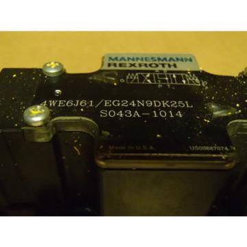 Mannesmann Germany china Rexroth Control Valve 4WE6J61/EG24N9DK25L _ S043A-1014 _ S043A1014