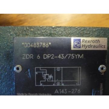 New India India Rexroth R900483786 ZDR 6 DP2-43/75YM ZDR6DP2-43/75YM Valve