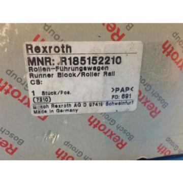NEW France Korea BOSCH REXROTH R185152210 RUNNER BLOCK & ROLLER RAIL 7210 (U4)