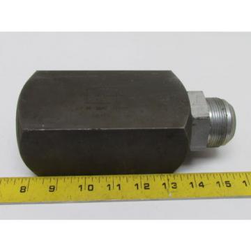 "Rexroth Canada Greece Hycon 45/84 Carbon Steel 1-1/2"" Check Valve Hydraulic 1-7/8x12 Thread"