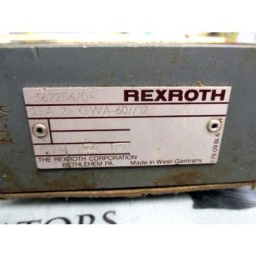 REXROTH Mexico Dutch LFA 25 GWA-60/12 HYDRAULIC VALVE MANIFOLD
