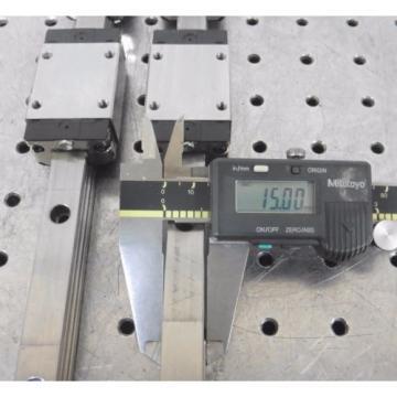 C138462 Korea Japan Lot 2 Rexroth 870mm Linear Slide Rails (4) Bearing Blocks R162219420 483