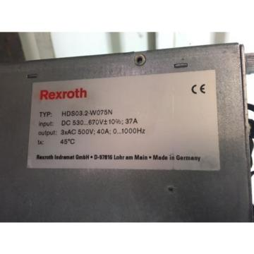 Indramat Egypt USA Rexroth Servo Drive, HDS03.2-W075N, w /DSS02.1, CLC-D02.3, DBS03.1 Used