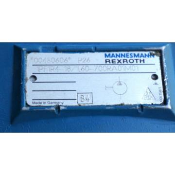 NEW Mexico India MANNESMAN REXROTH 1PF1R4-18/1,60-700RA01M01 PISTON HYDRAULIC PUMP 00450606