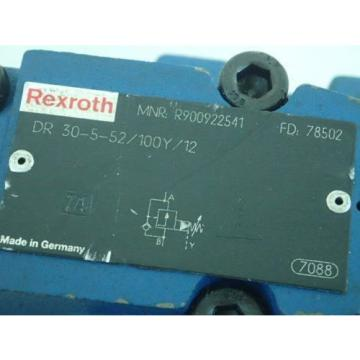 NEW India Germany REXROTH R900922541, DR 30-5-52/100Y/12 HYDRAULIC VALVE,BOXZK