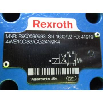 NEW India USA REXROTH SOLENOID VALVE 4WE10D33/CG24N9K4