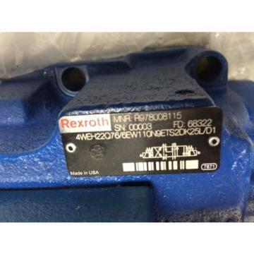 NEW Germany India REXROTH R900904406 HYDRAULIC VALVE,R978008115,4WE6J61/EW110N9DK25L,823274 CE