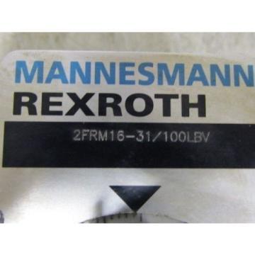 Mannesmann Korea Germany Rexroth 2FRM16-31/100lbv Flow Control Valve