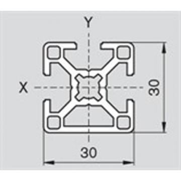 Bosch USA Australia Rexroth 30x30 3N, 8mm, Aluminium Extrusion (Cut to Length)