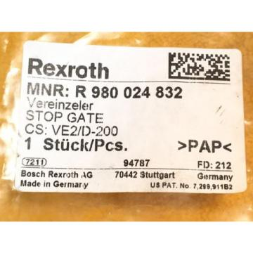 ***NEW*** USA Germany REXROTH R 980 024 832 PNEUMATIC STOP GATE TYPE VE2/D-200