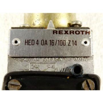 Rexroth India Japan HED 4 OA 16/100 Z14 Hydraulikventil