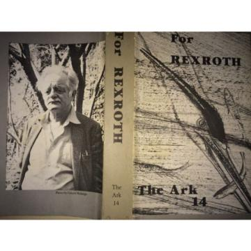 FOR Australia Japan REXROTH BY KENNETH REXROTH *INSCRIBED*FIRST ED*