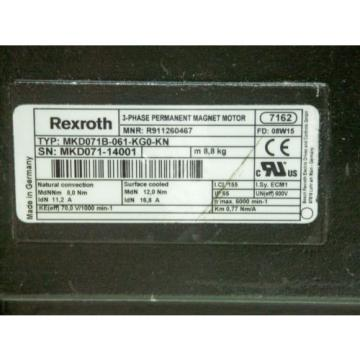 Rexroth Japan Singapore Servo Motor MKD071B-061-KG0-KN