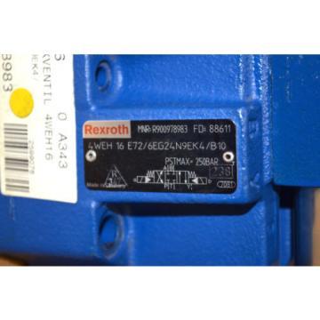 Rexroth Dutch France 4WEH16E72/6EG24N9EK4/B10 Wege-Schieberventil R900978983 + 4WE 6 ungebr.