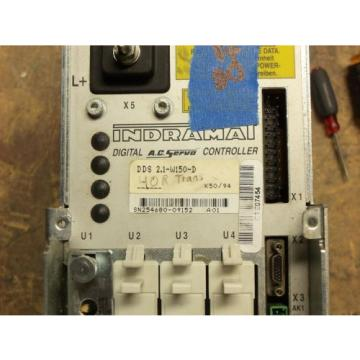 REXROTH India Russia INDRAMAT DDS2.1-W150-D POWER SUPPLY AC SERVO CONTROLLER DRIVE #8
