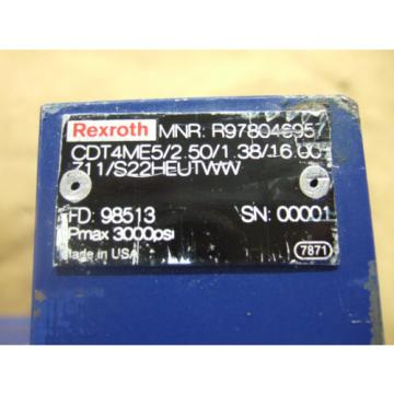 REXROTH Canada china CDT4ME5/2.50/1.38/16.0 HYDRAULIC CYLINDER - NEW