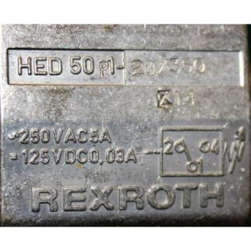 Rexroth Korea Japan HED 50 P1-20/350 | Hydraulic Valve Hydro Electric Pressure Switch