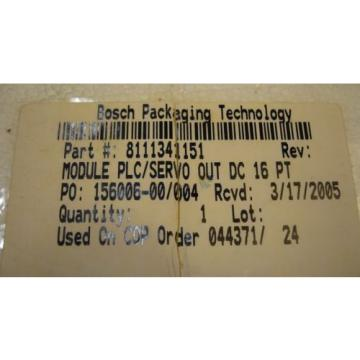 Bosch Singapore India Rexroth Indramat I/O Module RMA02.2-16-DC024-200 24VDC 2A NOS 280930