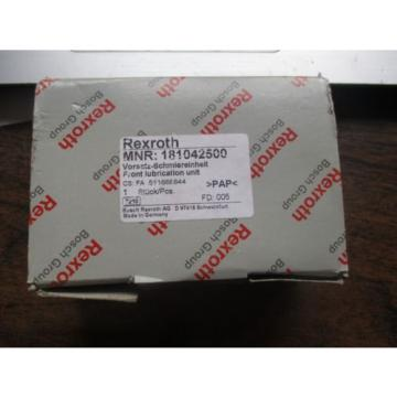 NEW Italy India REXROTH FRONT LUBRICATION UNIT 181042500