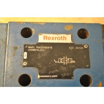 Bosch India Singapore Rexroth R900586919 4WMM10J31 Hydraulic Directional Control Valve