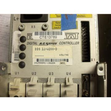 REXROTH Canada Japan INDRAMAT DDS2.1-W200-D POWER SUPPLY AC SERVO CONTROLLER DRIVE