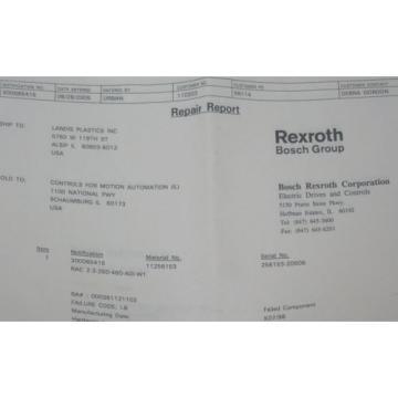 REXROTH Canada Canada RAC2.3-250-460-A0I-W1 SERVO SPINDLE DRIVE 256153, RAC23250460A0IW1 MF...