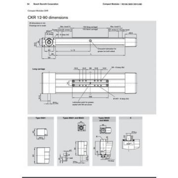 BOSCH Egypt Singapore REXROTH CKR 12-90  R036430000 COMPACT MODULE CKR LINEAR ACTUATOR