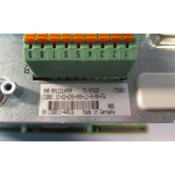 Rexroth France Canada R911314999 CSB01.1C-S3-ENS-NNN-L1-S-NN-FW Servo Controller Used