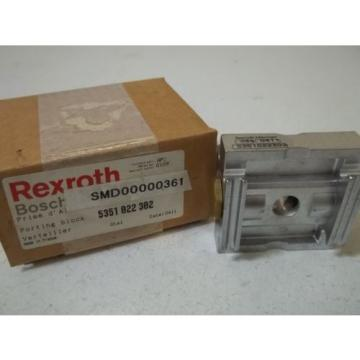 REXROTH Singapore china 5351 022 302 PORTING BLOCK *NEW IN BOX*