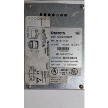 Rexroth USA Singapore IndraControl VCP 05 PROFIBUS DP slave VCP05.2DSN-003-PB-NN-PW